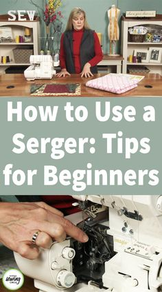 If you've never used a serger before they can be intimidating. From the multiple thread spools on the top, to loopers instead of a bobbin on the bottom, there's much about a serger that differs from a conventional sewing machine. In this video, ZJ Humbach shows you how to use a serger by taking you through the different parts and showing you the many different ways you can use it.