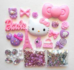 #hellokitty #pastel #cute #barbie #glitter
