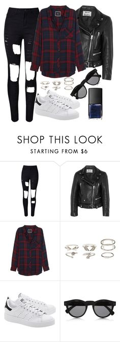 """""""Untitled#1385"""" by mihai-theodora ❤ liked on Polyvore featuring Acne Studios, Rails, Charlotte Russe, adidas Originals, Illesteva and NARS Cosmetics"""