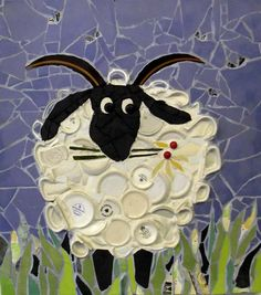 sheep mosaic (Gallery, ref : 004) Jan Kilpatrick
