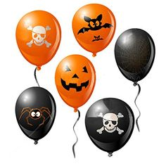 20Pcs Halloween 12 Inch Balloon Printed Haunted House Pumpkin Skull Decorations Garden Home Yard Par @ niftywarehouse.com #NiftyWarehouse #Halloween #Scary #Fun #Ideas