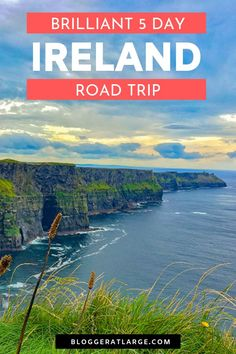Our 5 day road trip around Southern Ireland from Dublin to Cork, Limerick, Cliffs of Moher and Galway was amazing. So many cute places to stop, shop and stay. Use this travel itinerary to get your vacation started - and if you have longer, even better!  #Ireland #roadtrip #travel #traveltips #itinerary @bloggeratlarge