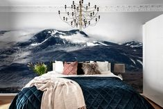 Out for a wall mural with a nature theme? We have a wide collection of stunning nature wall murals. Buy online – free worldwide shipping and paste inc Rebel, Bedroom Wall Designs, Bedroom Office, House Goals, Apartment Design, Home Decor Inspiration, Wall Murals, Furniture, Perspective
