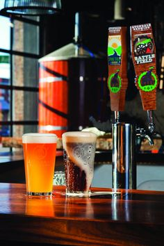 Avondale Brewing Company's Spring Street Saison and Battlefield India Pale Ale | Photo by Rob Culpepper; Birmingham mag, January 2012 |