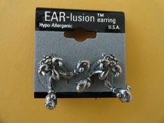 Pierced Earrings Tough Boxing Cat Ear-lusions Hypo Allergenic Made in USA - Earrings