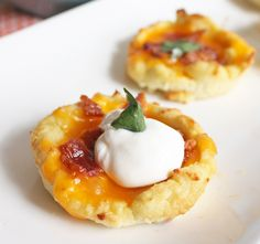 "Loaded ""Faux-tato"" Skins (Low Carb and Gluten Free) - cauliflower mash with egg, in muffin tin, then add cheese and bacon"