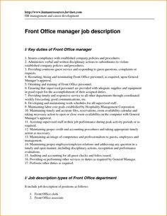 Attirant Reservation Supervisor Duties And Responsibilities | Front Office Job  Descriptions | Pinterest | Job Description, Front Office And Front Office  Jobs