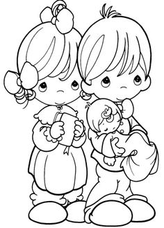 Precious Moments Are Always Happy Always Coloring Pages