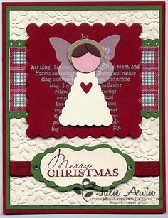 Angel punch card by Julie Arvin (note: butterfly wings)