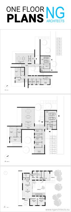 best selection of modern house plans designed by NG architects www.ngarchitects.eu