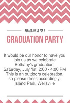 FREE Graduation Party Invitation | graduation party ...