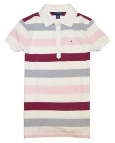 Tommy Hilfiger Women Striped Logo Polo T-Shirt for $59.99