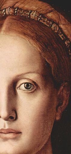 Agnolo Bronzino (1503-1572), Portrait of Lucrezia Panciatichi, 1545, detail.