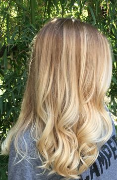 Blonde Balayage with lightened ends