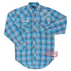 087ed62fd5 Camisa Masculina Importada Manga Longa Bordada - Wrangler C10.4F.2V.40 - Rodeo  West