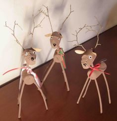 Crack of Dawn Crafts: Reindeer Cork Craft