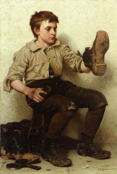 john george brown paintings - jersey mud