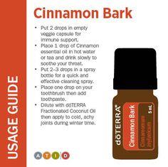doTERRA Cinnamon Bark Usage Guide. www.FB.com/TransformationalEssentials