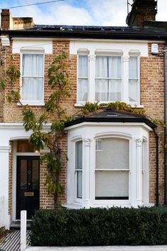 to restore the exterior of a house that has fallen victim to poor century updates Terraced House Exterior Renovation - Before & After Design Ideas (.uk)Terraced House Exterior Renovation - Before & After Design Ideas (. Terrace House Exterior, Victorian Terrace House, Victorian Homes, House Exteriors, Victorian Front Garden, Victorian House London, Bay Window Exterior, Townhouse Exterior, Victorian Windows