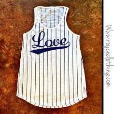 Baseball LOVE blue & white semi burnout tank ⚾️⚾️ $24 free shipping www.royceclothing.com #royceclothing #freeshipping #baseballlove