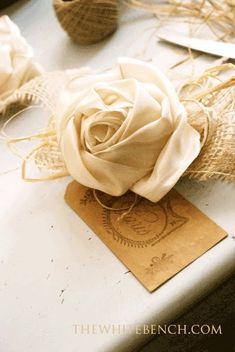 The White Bench: Ribbon Rose Tutorial.