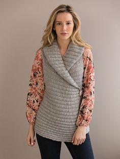 Free knitting pattern for Elegance Vest and more knitting patterns for vests