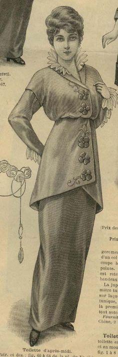 April 1914 Afternoon dress