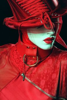 Dior Haute Couture Christian Dior Couture, Dior Haute Couture, John Galliano, Red Fashion, Look Fashion, Fashion Art, High Fashion, Womens Fashion, Simply Red