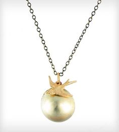 Ball + Chain Brass Locket Necklace by Christine Domanic on Scoutmob Shoppe