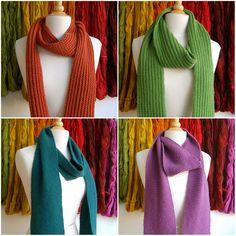Free scarf patterns via Loop Knits
