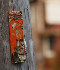 These quiet bits of visual punctuation on telephone poles in Albany caught our eye recently and we thought immediately of fairies, pixies, and sprites. Who else would care enough to adorn wooden te. Sprites, Punctuation, Pixies, Telephone, Utility Pole, Street Art, Electric, Eye, Phone