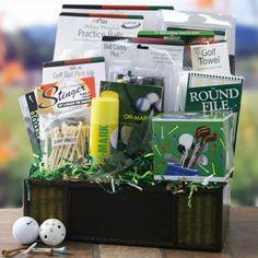 Golf Gift basket For Pop Raffle Gift Basket Ideas, Raffle Ideas, Raffle Baskets, Diy Gift Baskets, Gift Ideas, Grandpa Gifts, Gifts For Dad, Golf Centerpieces, Golf Tournament Gifts