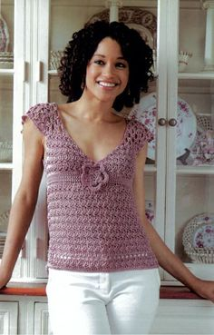 Crochet Patterns, Free Crochet Pattern--for me, no rosette and wear over LS t-shirt!