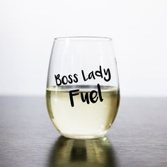Boss Lady Fuel stemless wine glass  Boss Babe Fuel stemless by RoseCrownCo | Etsy
