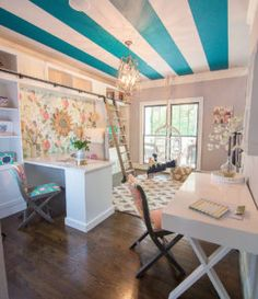Beautiful colorful whimsical home office by Addison's Wonderland_