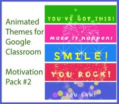 Animated Google Classroom Headers (Motivation Pack #2) - Distance Learning Teacher Resources, Teacher Pay Teachers, Teaching Ideas, Presentation Rubric, Online Classroom, Classroom Decor, Math Quotes, Free Education, Google Classroom