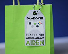 Video Game Party Favor Tags PRINTED or PRINTABLE by 505design
