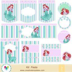 Kit festa Pequena Sereia mod:754