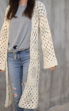 ae94a0aef Arlo Granny Square Crocheted Cardigan Pattern