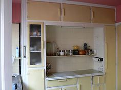 Retro vintage original 1930's kitchen units cupboards