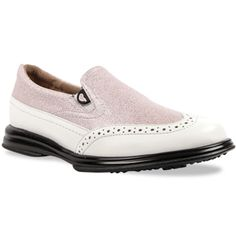 Shop the newest selection of slip on and spikeless ladies golf shoes for her including the Sandbaggers Vanessa Pink Shimmer Golf Shoe