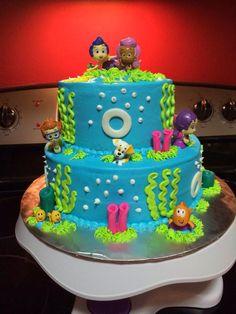 Bubble Guppies Cake Mermaid Birthday, Baby Birthday, Birthday Parties, Kid Parties, Birthday Cakes, Birthday Ideas, Bubble Guppies Cake, Bubble Guppies Birthday, Cake Cookies