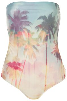 Topshop Palm print one piece swimsuit