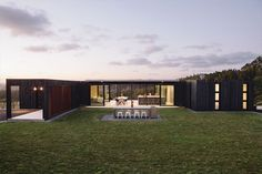 Alex & Corban Walls Muriwai home build out of shipping containers via Homestyle Magazine