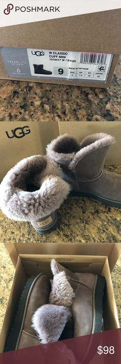 UGG classic mini cuff light wine/purple Freaking adorable short Uggs! Bought for my mom it they were too small and I was past my return window. She didn't want to give them back to me because she loved them so much! Super awesome color and style UGG Shoes Ankle Boots & Booties