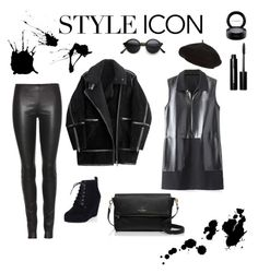 """Kamilla's black collection"" by szobota-kamilla on Polyvore featuring MAC Cosmetics, Bobbi Brown Cosmetics, Harrods, The Row, H&M, Kate Spade, women's clothing, women's fashion, women and female"