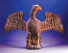 Wilhelm Schimmel Original Carved a Eagle with a wings Spread.  c1875.