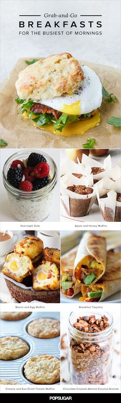 20 Grab-and-Go Recipes For the Busiest of Mornings Here are 20 breakfast recipes you will have time to eat and enjoy. From freezer-friendly breakfast sandwiches to yogurt parfaits and more options that you can make ahead. Grab And Go Breakfast, Breakfast Time, Second Breakfast, Breakfast Muffins, Breakfast Casserole, Brunch Recipes, Breakfast Recipes, Breakfast Ideas, Breakfast Sandwich Freezer