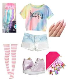 """""""PASTELS"""" by jocelynelizabeth on Polyvore featuring Current/Elliott and Converse"""