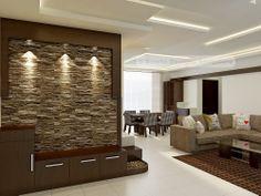 Amazing foyer with stone cladding